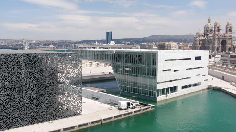 MuCEM de Marseille avec peu de monde