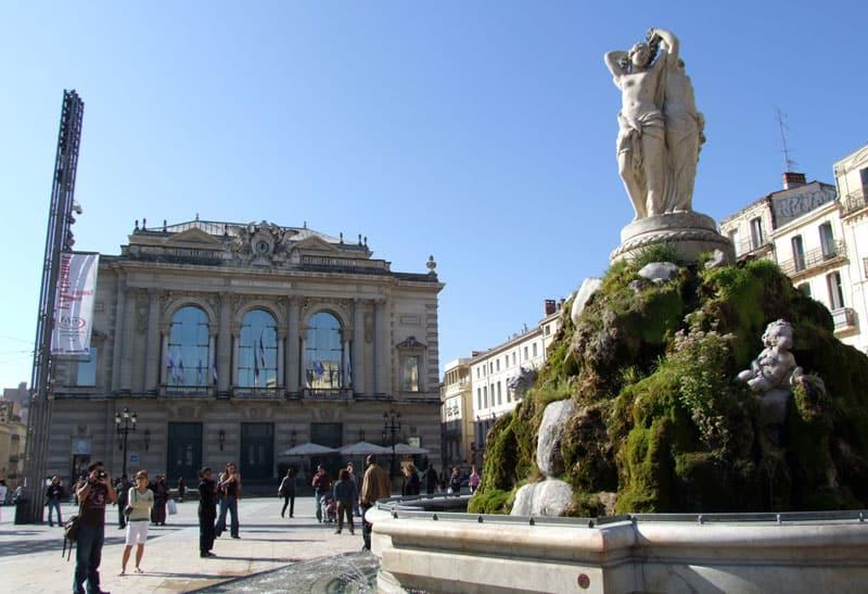 Opéra et place de la comédie Montpellier