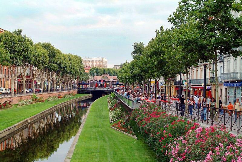 Vue du quai Vauban à Perpignan