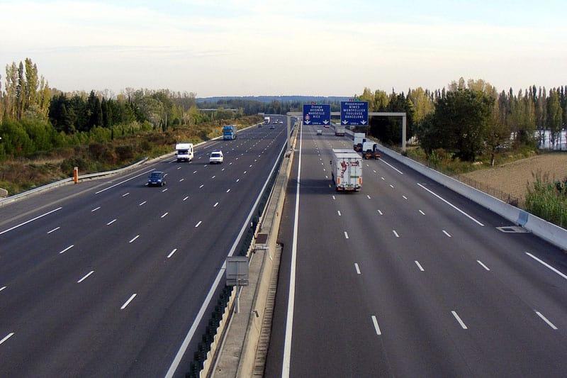 Autoroute avec du trafic Toulouse