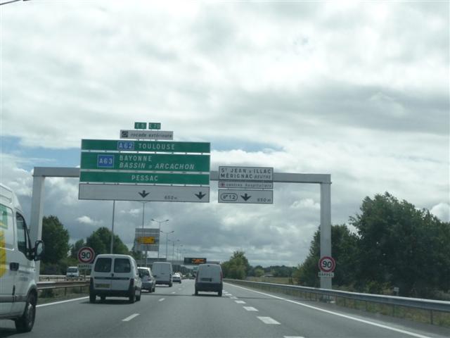 Rocade avec du trafic à Bordeaux